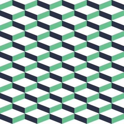 Sticker Türkis Geometrische Illusion Nahtlose Muster