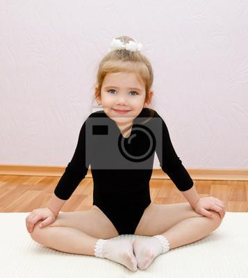 Sticker Turnerin niedliche kleine Mädchen Übungen