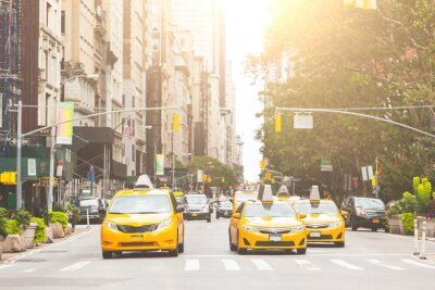 Sticker Typische gelbes Taxi in New York City