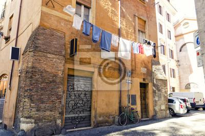 Typische Straße im alten Teil von Rom, Italien