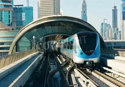 Sticker U-Bahn-Tracks in den Vereinigten Arabischen Emiraten