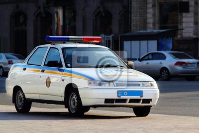 Ukrainischen Polizeiauto