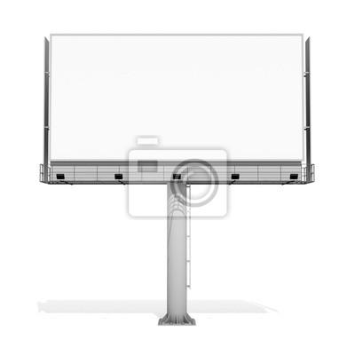 Unbelegte Anschlagtafel 03 der Wiedergabe 3d auf weißem Hintergrund. 3D Modellierung