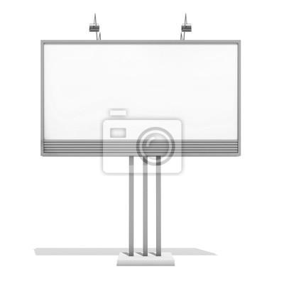 Unbelegte Anschlagtafel 05 der Wiedergabe 3d auf weißem Hintergrund. 3D Modellierung