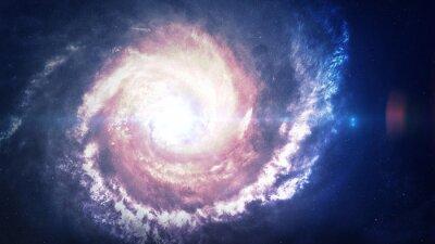 Sticker Unglaublich schöne Spiralgalaxie irgendwo im Weltraum. Elemente dieses Bildes von der NASA eingerichtet