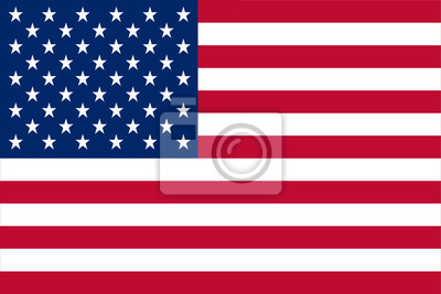 Sticker United States of America flag