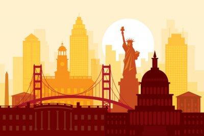 United States of America, USA, Landmarks, Urban Skyline