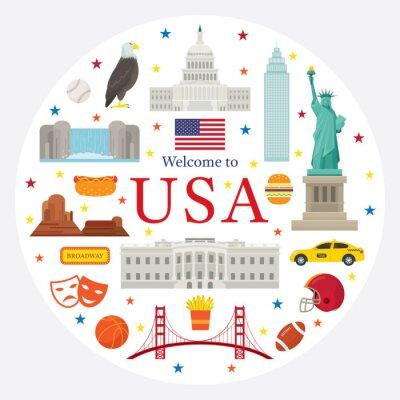 United States of America, USA, Objects Landmarks Label