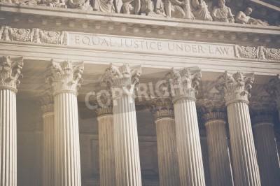 Sticker United States Supreme Court Säulen der Justiz und der