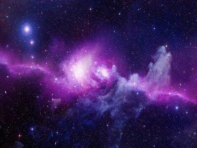 Sticker Universum gefüllt mit Sternen, Nebel und Galaxie