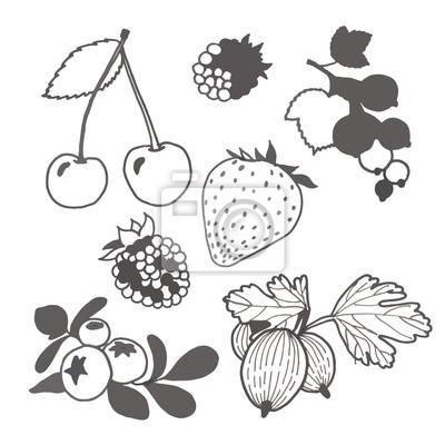 Unpainted berries