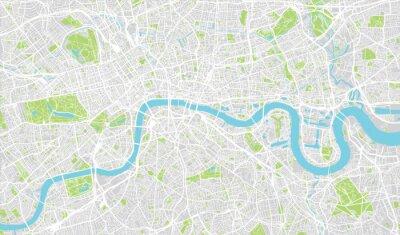 Sticker Urban Stadtplan von London, England
