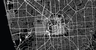 Urban vector city map of Adelaide, Australia