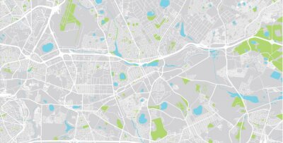 Urban vector city map of Benoni , South Africa.