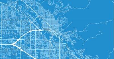 Urban vector city map of Boise, USA. Idaho state capital