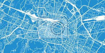 Urban vector city map of Bologna, Italy