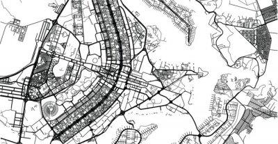 Urban vector city map of Brasilia, Brazil