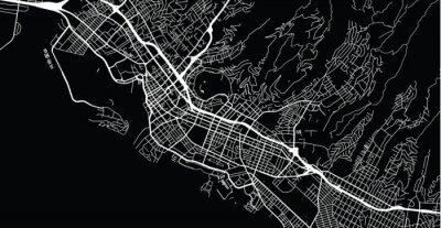Urban vector city map of Honolulu, USA. Hawaii state capital