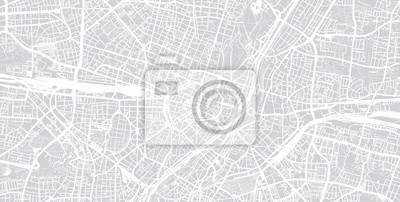Urban vector city map of Munich, Germany