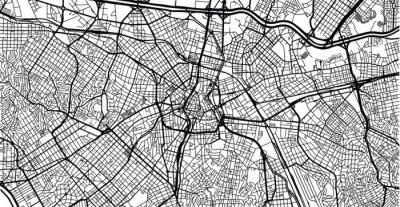 Urban vector city map of Sao Paulo, Brazil