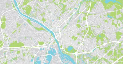 Urban vector city map of Trenton, USA. New Jersey state capital