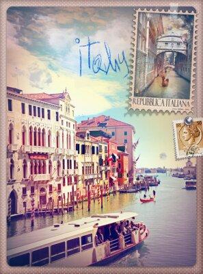 Sticker Urlaub in Italien und Venedig-Serie