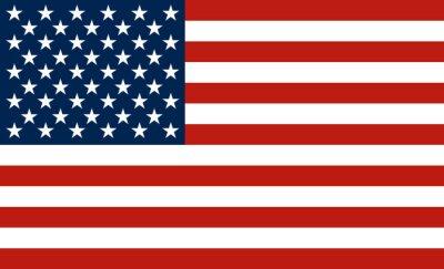 Sticker USA-Flagge