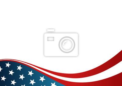 Sticker USA-Flagge Karte