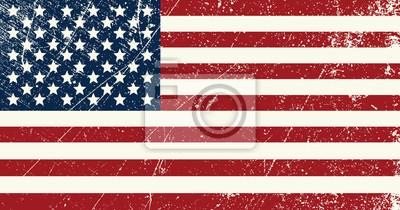 Sticker USA Flagge vintage