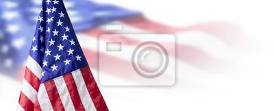 Sticker USA oder Hintergrund der amerikanischen Flagge mit Kopienraum