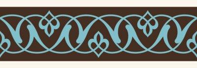 Sticker Usbekischen Alten Nahtlose Grenze