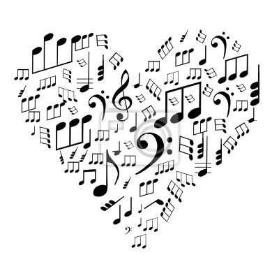Valentine Thema - Notizen auf dem Herzen, Vektor-Illustration