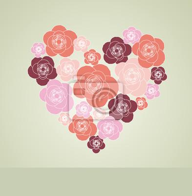Valentinstag Dekoration mit Herz.