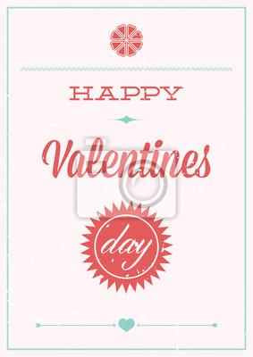 Valentinstag. Grunge Poster