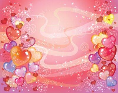 Valentinstag Hintergrund mit Luftballons