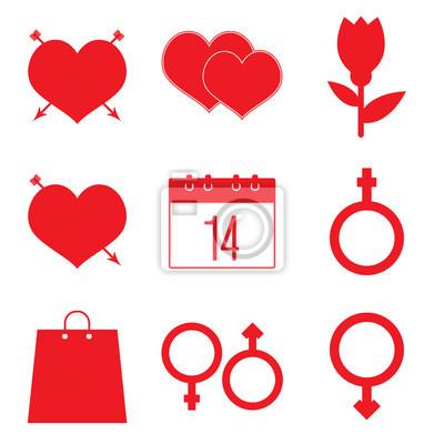 Valentinstag icon set