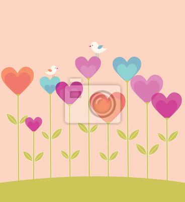 Valentinstag-Karte mit Herzen.
