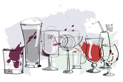 Various bar drinks