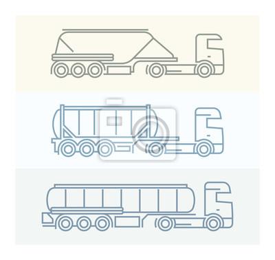 Vechile Piktogramme: Europäische LKW-Set 1