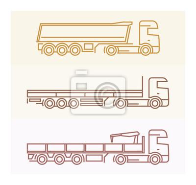 Vechile Piktogramme: Europäische Lkw Set 2