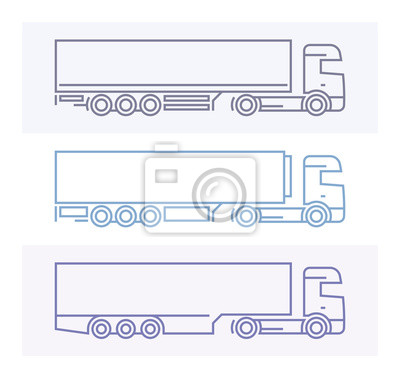 Vechile Piktogramme: Europäische LKW-Set 3