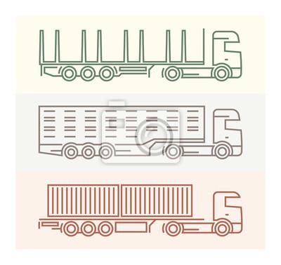 Vechile Piktogramme: Europäische LKW-Set 4