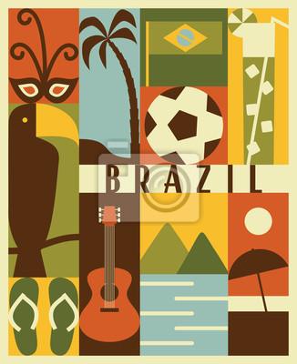 Vector Brazil icon set
