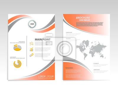 Vector broschüre flyer design layout vorlage, vorder-und rückseite ...