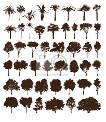 Vector elements Bäume