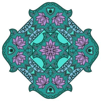 Sticker Vector Farbe Mandala.