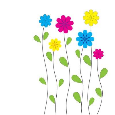 Sticker Vector floral Hintergrund mit Herzen