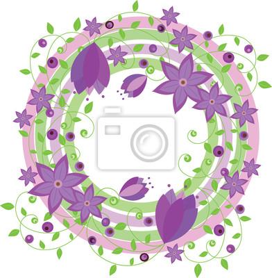 Vector_Frame aus Blumen