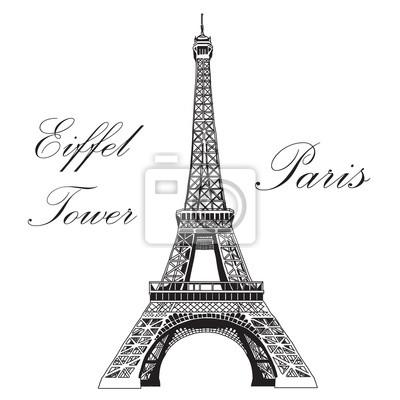 Vector Handzeichnung Illustration Eiffelturm