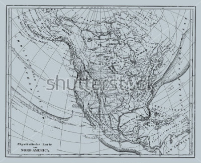 Sticker Vector Historical map of Nord America from atlas published in 1851. Other vector maps in my portfolio.